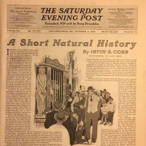 Vintage Other - October 9, 1920 The Saturday Evening Post